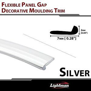 12ft pvc car panel edge gap trim chrome molding strip interior decoration silver ebay. Black Bedroom Furniture Sets. Home Design Ideas
