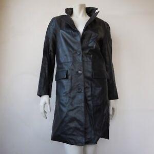 Taille S Femme Made Pelle In Vera Articiana Manteau Lavorazione Cuir qHR7nHxE