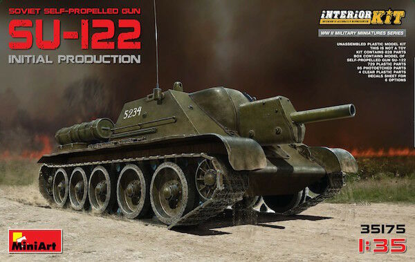 Miniart 1 35 Russian Su-122 Initial Production with Full Interior