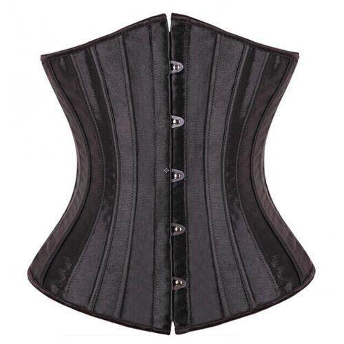 US Stock Steampunk Boned Waist Trainer Women Corset Overbust Underbust Shapewear