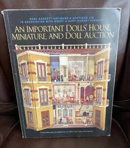 Important Dolls House Miniature Doll Auction Catalog Barrett Dec 05 Ebay