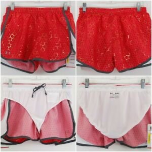 NWT-Under-Armour-HeatGear-Semi-Fitted-Inner-Brief-Red-Running-Shorts-Womens-Sz-M