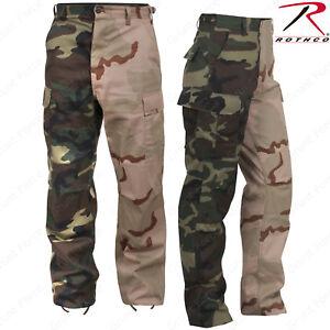 color Camo Bdu Rothco bicolore Pant Felpe Tri Woodland Army CwZO6qn58