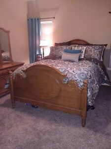 Image Is Loading Lexington Bedroom Set 5 Piece Mirror Solid Oak