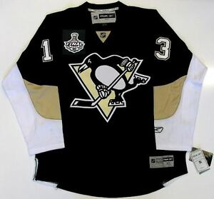huge selection of 1d0be c1628 Details about BILL GUERIN PITTSBURGH PENGUINS 2009 STANLEY CUP REEBOK  PREMIER HOME JERSEY