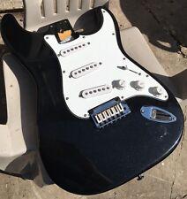 Fender Squier Standard Series Loaded Stratocaster Strat Body Metallic Black