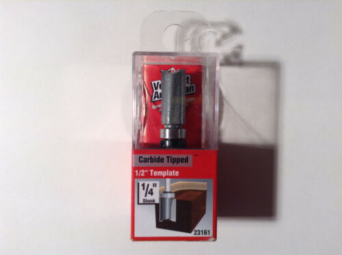 """Vermont American 23161 Carbide Tipped Double Flute 1//2/"""" Template Router Bit"""