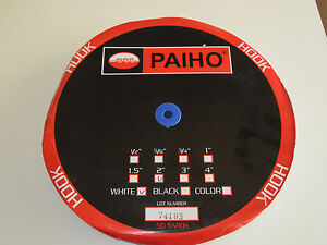 "Paiho HOOK Only Sew On Fastners 2"" x 50 yards WHITE"