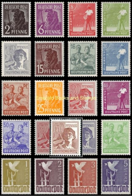EBS Germany 1947 Allied Occupation Peaceful Occupations Michel 943-962 MNH**