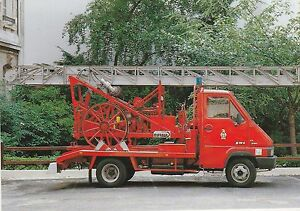 A-Postcard-showing-a-French-Fire-Service-18-Metre-Motorised-Ladder-in-Paris