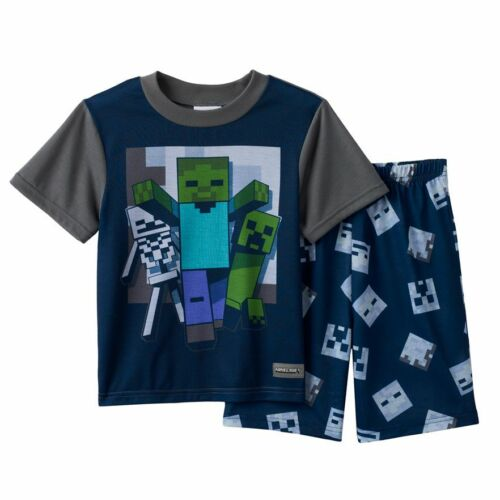 Minecraft Summer Pajama Set Size/'s 6-8 10 NWT Mine Craft NWT