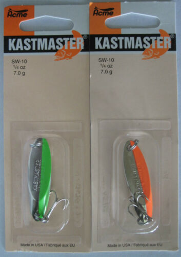 Acme Tackle Kastmaster Pêche Leurres 1//4 Once-Two Popular Couleurs! 2 PKS