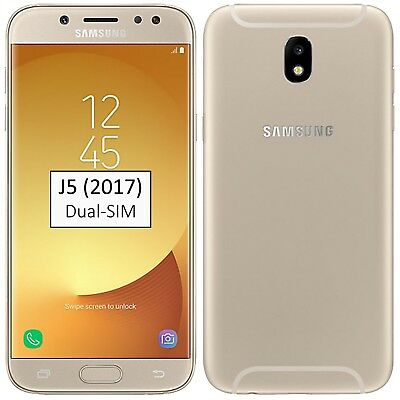 New Samsung Galaxy J5 2017 Dual-SIM 16GB Gold SM-J530F Factory Unlocked Simfree