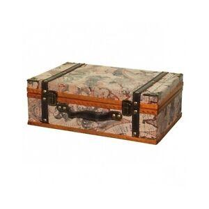Vintage Suitcase Trunk Train Case Leather Suitcases Retro Antique ...