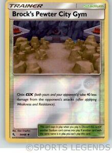 Pokemon SM HIDDEN FATES BROCK/'S PEWTER CITY GYM 54//68 UNCOMMON REVERSE