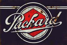 PACKARD AUTO GARAGE SERVICE STATION WEATHERED BUILDING SIGN DECAL 3X2 DD112