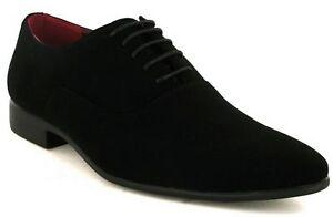 men-new-black-faux-suede-smart-dress-party-wedding-shoes-lace-up-sizes-6-12