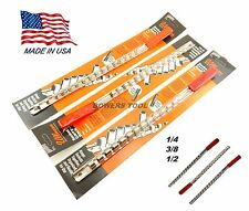 Ullman 3pc Socket Rack Rail Set Organizer Tray Holder Metric SAE 1/4 3/8 1/2 USA