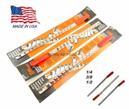 Ullman 3pc Socket Rack Rail Set Organizer Tray Holder Metric SAE 1//4 3//8 1//2 USA