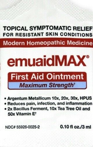9ml Travel Packs EMUAID MAX EMUAIDMAX First Aid Anti-Fungal Ointment Natural