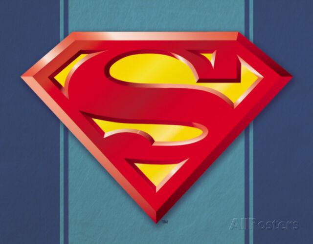 dc comics superman logo metal tin sign 40x30cm ebay