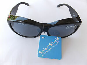 a7d0485471 2 Pair Solar Shield Sport Polarized Sunglasses Fits Over Glasses Size Large