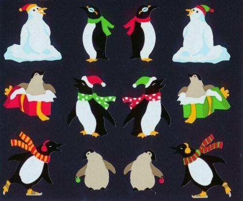 ~ Retired NLA Christmas Penguin Gifts Bird Ice Holiday Mrs Grossman Stickers ~