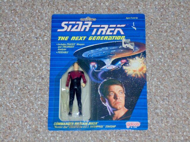 1988 Galoob Star Trek: The Next Generation Commander Riker MOC Brand New TNG