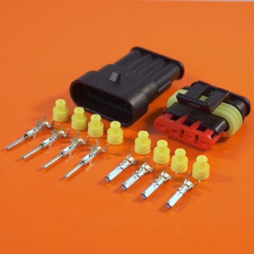4 Way Original AMP Superseal Impermeable Cableado Eléctrico Conector