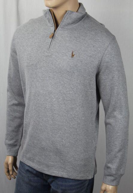 Polo Ralph Lauren Light Grey Estate Rib Half Zip Sweater Multi Color Pony  NWT facbbd0f5fa6