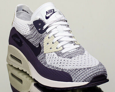 Nike WMNS Air Max 90 Ultra 2.0 Flyknit women casual shoes NEW white 881109 102   eBay