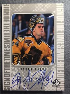 1998-99-BRUINS-SP-Authentic-Sign-of-the-Times-BD-Byron-Dafoe-Signed-Autog