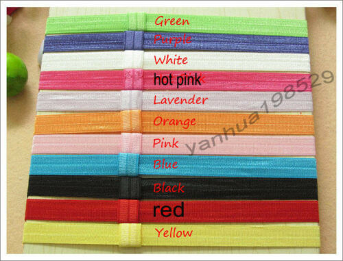 22pcs 0.7 inch in 11 colors stretch elastic headbands baby bow for daisy flowers