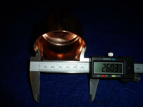 """2-1//2/"""" x 1-1//4/"""" COPPER REDUCER COUPLING BELL REDUCER FITS 2-5//8/""""ODx1-3//8OD/"""" PIPE"""