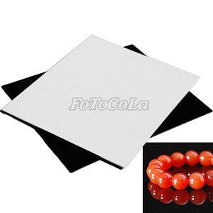 Blanco-Negro-Foto-Acrilico-reflexion-Tablero-Kits