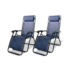 Image Is Loading Zero Gravity Chair Blue Set 2 Anti
