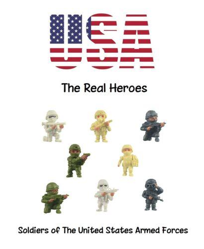 """Les véritables héros forces armées américaines en vrac Vending Figure toys 100-1.25/"""" figures"""