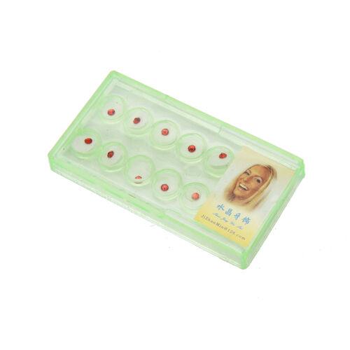 10 boxen von dental reinigung kristallzahn schmuck schmuck edelstein w//boxDDE