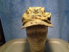 GENUINE US NAVY WORKING UNIFORM NWU GREEN 8 POINT UTILITY CAP 7 5/8 2010 0-1