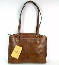 Patricia Nash Signature Map Leather Poppy Zip Tote Bag