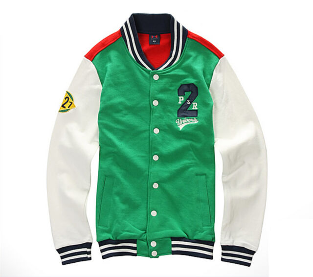 NII Mens Casual Snap Button Front Baseball Varsity Jacket Jumper Size S NWT