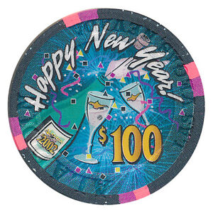 image is loading aladdin 100 happy new year 2002 casino chip