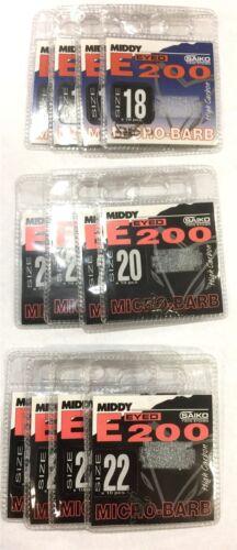 20 /& 22 12 Packs Middy E200 Hooks Bundle Sizes 18