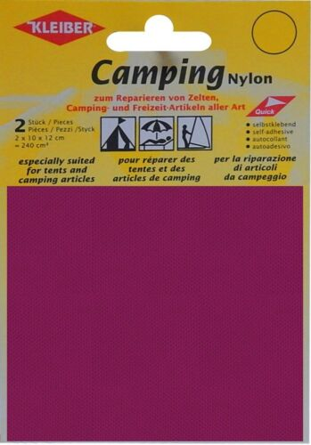 Kleiber Camping Nylon Flicken selbstklebend bordeaux