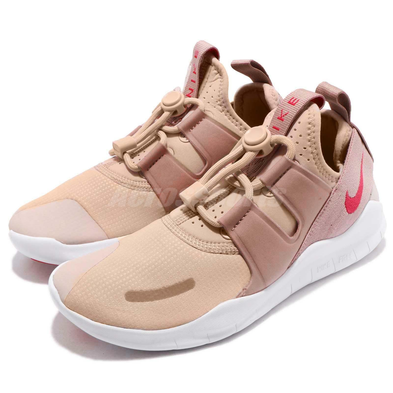 Nike Wmns Free RN CMTR 2018 Beige Pink Womens Lifestyle Running shoes AA1621-200