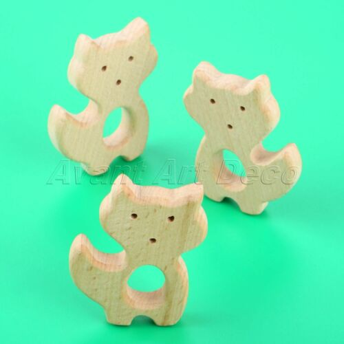 1//3Pcs Wooden Teether Baby Pacifier Teething Toy Eco-friendly 25 Animals Shape