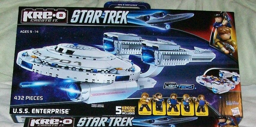 1 kre-o star trek set enterprise nib factory sealed