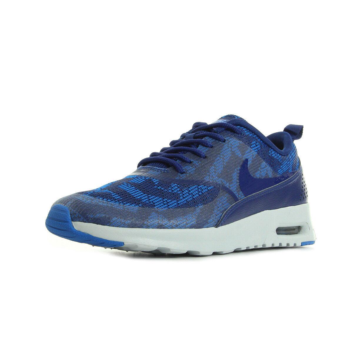 Chaussures Baskets Nike femme Air Max Thea Jacquard taille Bleu Bleue