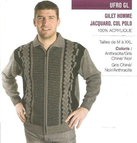 A Col Gilet Oaks Valley Zip Marque Polo Homme Jacquard Eqq7A