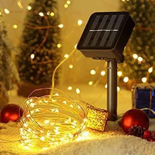 environ 10.06 m Criacr Solar Lights Outdoor 100 DEL 2 Modes Lampe Solaire Jardin Lumières 33 FT 10 m cuivre